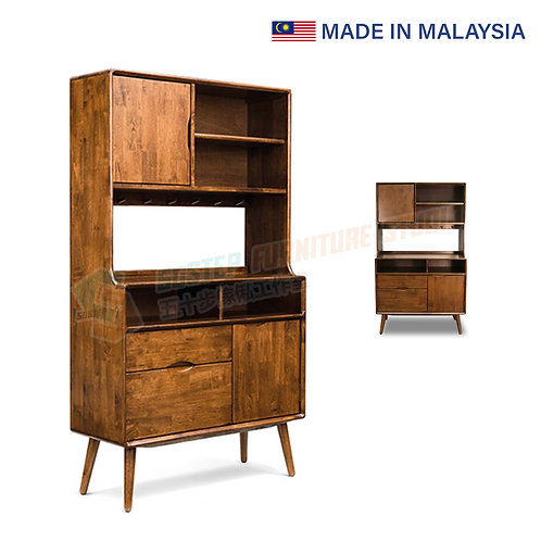 全新馬來西亞製造實木餐邊櫃 Brand New solid wood sideboard, made in Malaysia