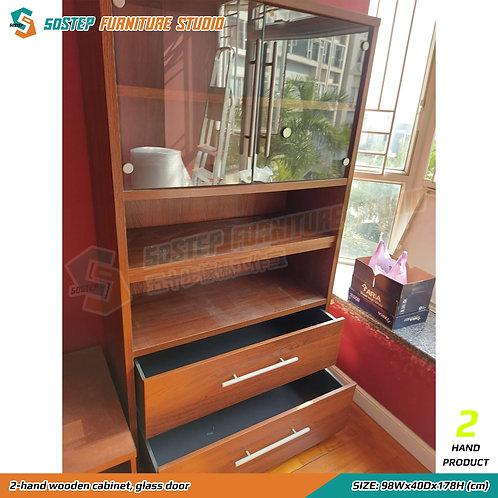 二手高身玻璃展示櫃 2-hand wooden cabinet, glass door