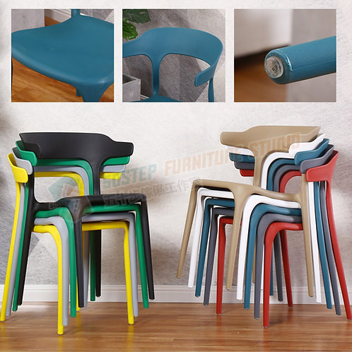 全新彩色可疊餐椅 Brand New dinning chair, plastic