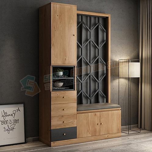 免費送貨摩登精品鞋櫃屏風腳凳組合 Free shipping modern cabinet with bench, drawers/partition