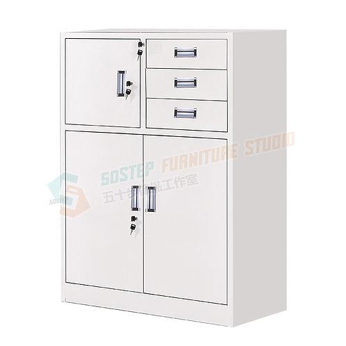 全新三桶三門連保險箱鋼文件櫃 Brand New file cabinet w keys