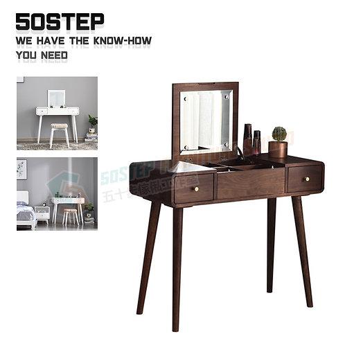 全新進口實木翻鏡藏檯面板設計梳妝檯 Brand New mirror dressing desk