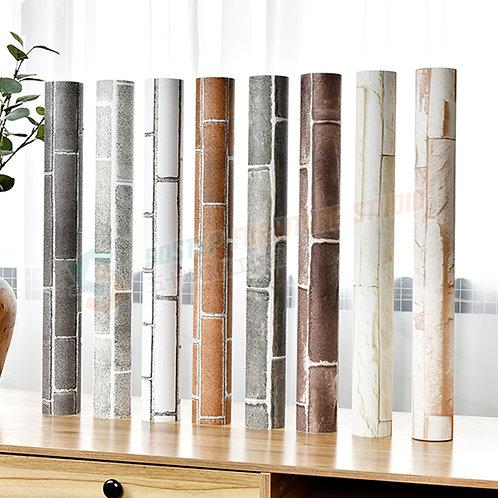 免運費防水加厚磚紋即貼牆紙傢俬翻新 Free delivery PVC brick pattern wallpaper