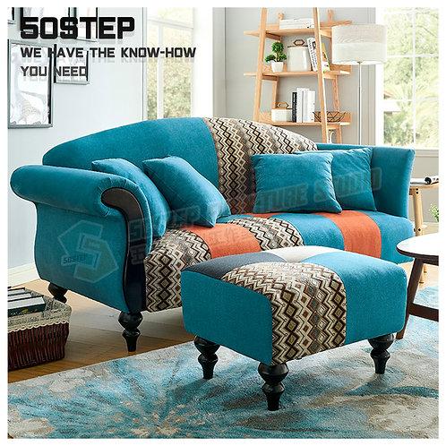 全新法國風情拼兩/三座位布梳化 Brand New 2/3-seat sofa