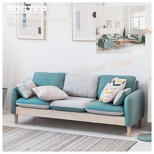 全新木系拼色單/兩/三座位布藝梳化 Brand New 1/2/3-seat sofa, fabric