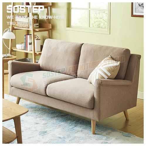 全新淺色系兩座位布梳化 Brand New 2-seat sofa, fabric