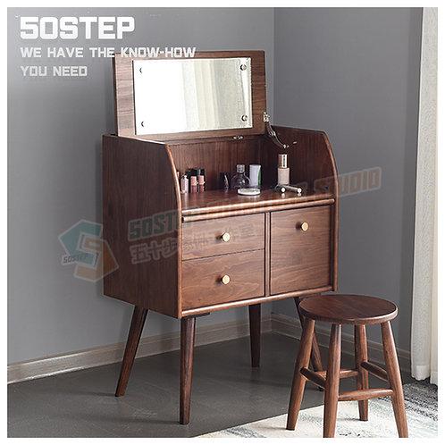 全新進口實木翻鏡藏檯面板設計梳妝檯/+櫈 Brand New mirror dressing desk/+stool