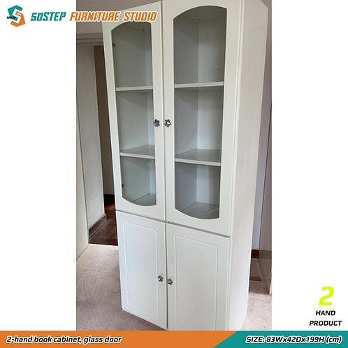 二手玻璃書櫃 2-hand book cabinet, glass door