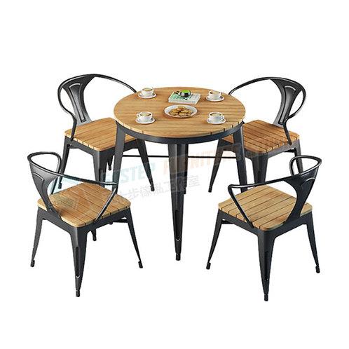 全新無縫焊接圓形戶外餐檯/餐檯餐椅組合 Brand New outdoor table/table w chairs