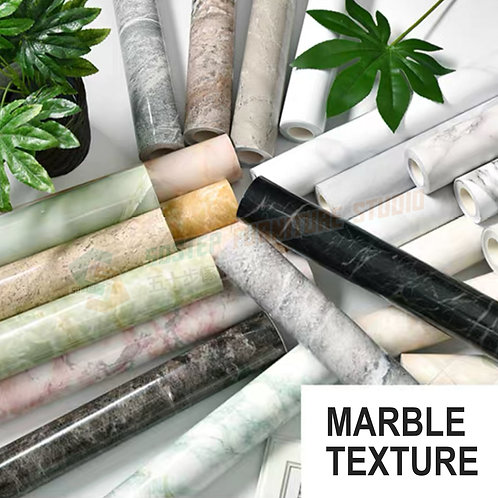 全新防水加厚石紋即貼牆紙 Brand New PVC marble wallpaper