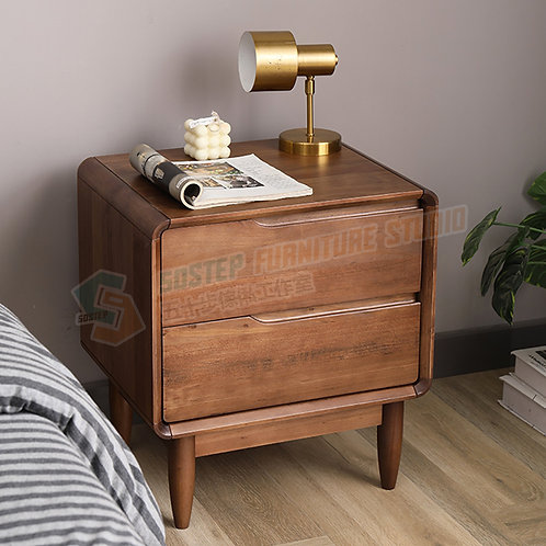 全新進口實木暗拉床頭櫃 Brand New solid wood nightstand