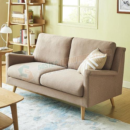 全新北歐卡其簡約布梳化 Brand New 2-seat sofa, fabric