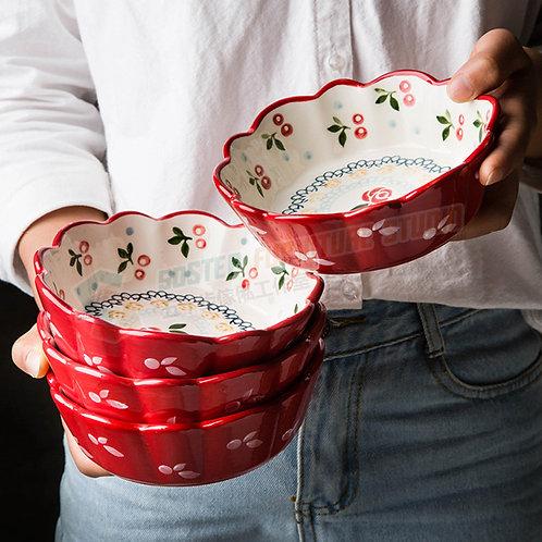全新日式手繪櫻桃瓷碗 Brand New hand paint bowl