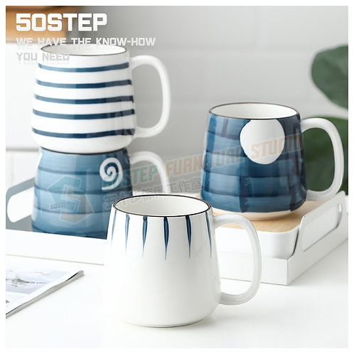 全新和風手繪陶瓷咖啡杯 Brand New mug