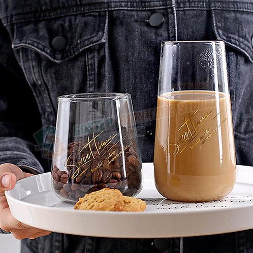 甜蜜時光玻璃咖啡杯 Glass