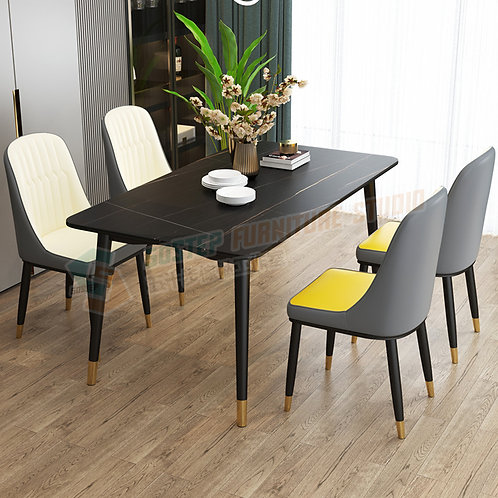 全新岩板餐檯/連餐椅 Brand New dinning table/w chairs, sintered stone