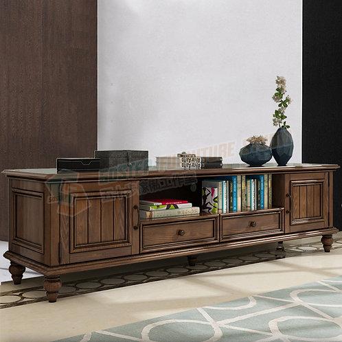 全新進口白蠟木美式復古實木電視櫃 Brand New solid wood TV cabinet, ash wood