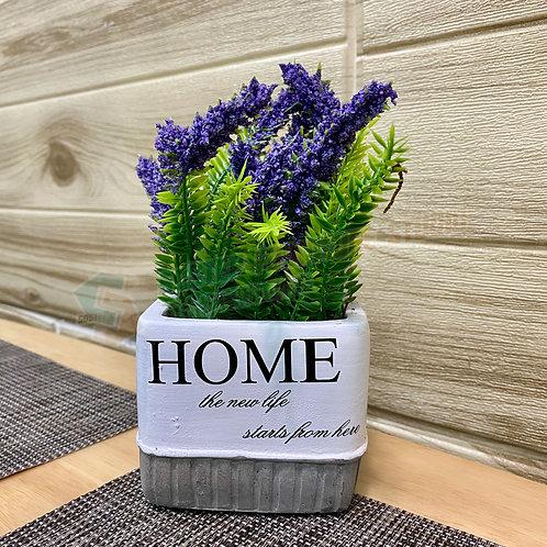 全新人造盆栽薰衣草 Brand New artificial potted plant