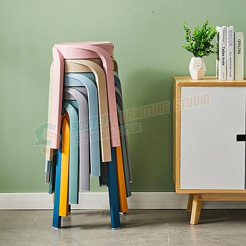 全新糖果色圓形膠櫈 Brand New stool, plastic