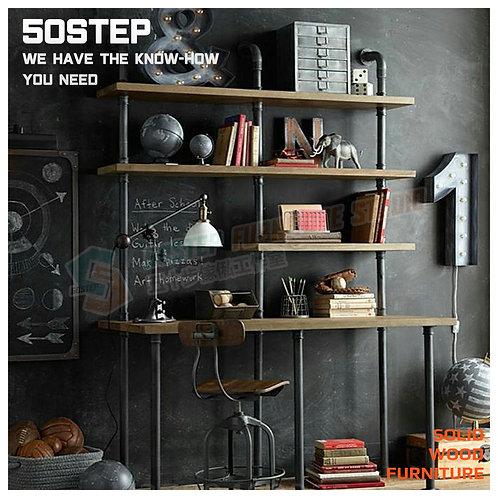 全新可訂造新西蘭進口工業風實木書檯組合 Brand New solid wood loft style desk with add-on unit