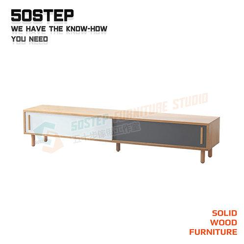 全新進口FAS級橡木實木拼色電視櫃 Brand New solid wood TV cabinet