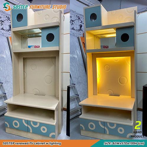 五十步翻新組合電視櫃連燈 50STEP renewed TV cabinet w lighting