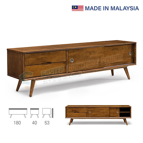 全新馬來西亞製造實木趟門電視櫃 Brand New solid wood TV cabinet, made in Malaysia