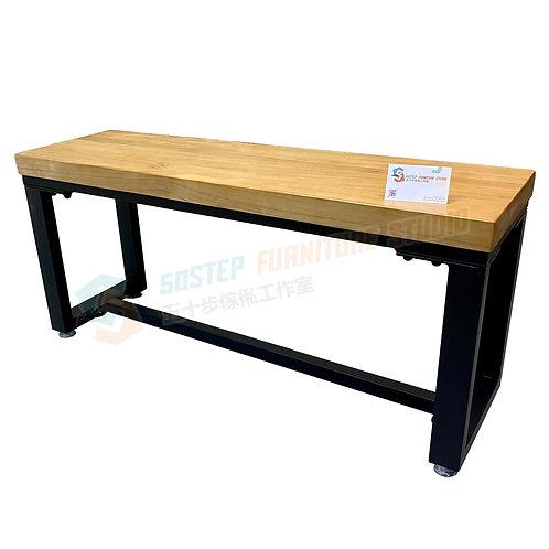 全新可訂造美國進口實木工業風長櫈 Brand New solid wood bench