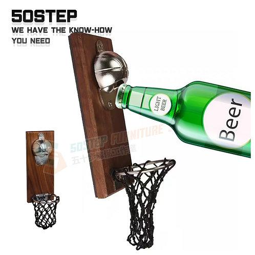 全新進口黑胡桃木磁力酒樽開瓶器 Brand New bottle opener