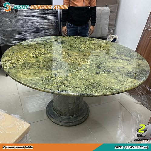 二手雲石餐檯 2-hand round table