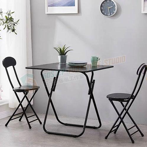 全新輕便型方形摺檯摺椅組合 Brand New folding table with chairs