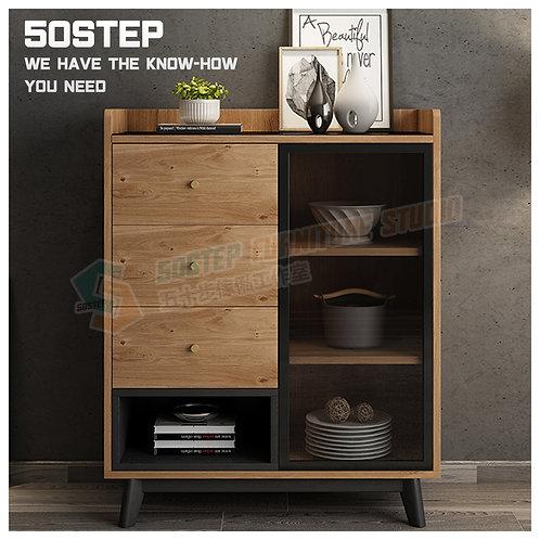 全新摩登精品餐邊櫃 Brand New modern cabinet with drawers, glass