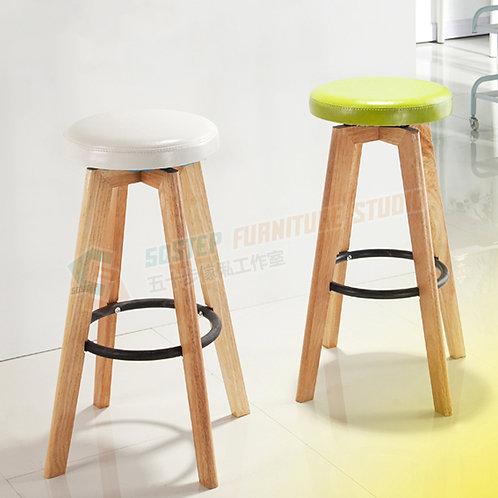 免費送貨PU皮坐墊旋轉實木吧櫈吧椅 Free shipping PU leather solid wood swivel bar stool