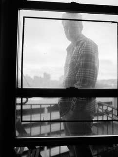 fine art photography, black and white, portrait, abscure, man, new york city, bronx, New york
