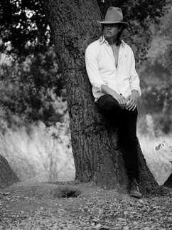 hot, man, sex, cowboy, hat, white shirt, nature, portrait, photography, black and white
