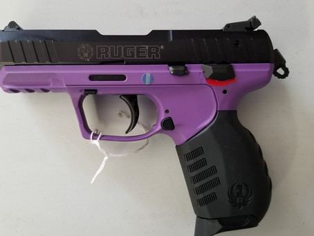 Ruger SR22LR  This gun not only looks great but is fun to shoot.