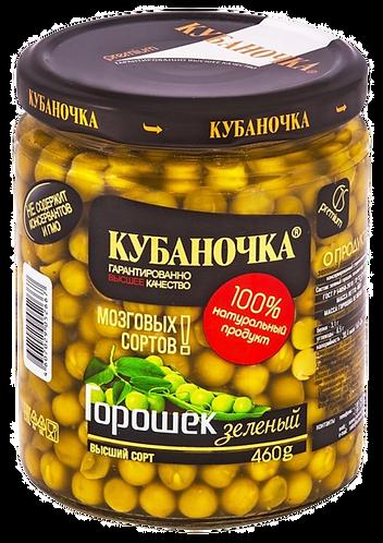 """""""Зеленый горошек"""" Кубаночка ГОСТ 460г 1/12, шт"""""""