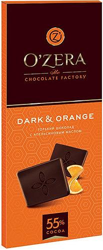 Шоколад O Zera темный апельсин 55% 90гр