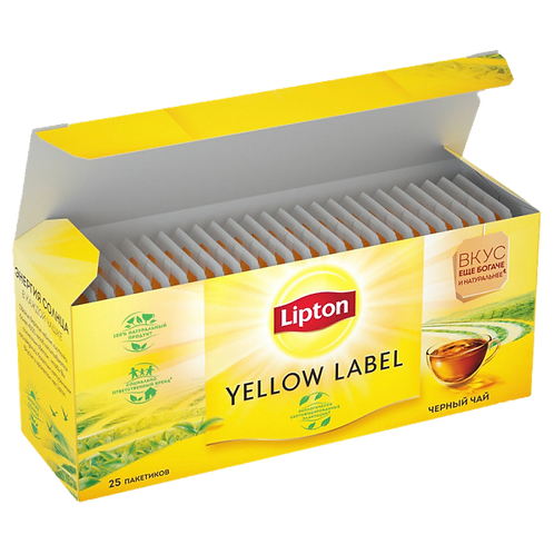 Чай Липтон Yellow Label 25пак, шт