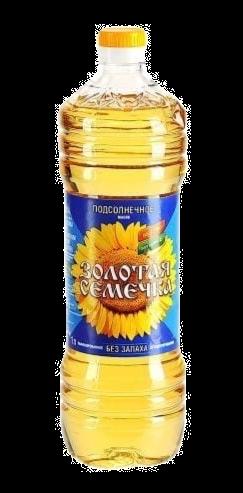 """Масло подсолнечное рафинированное """"Золотая семечка"""" 1л 1/12, шт"""