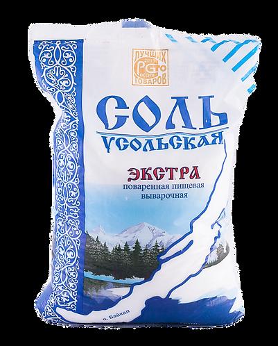 Соль Усольская Экстра фас 1кг 1/50, шт