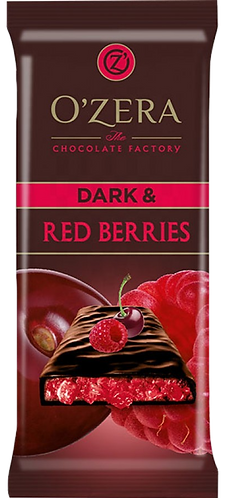 Шоколад O' Zera Dark& Red Berries 90 гр,