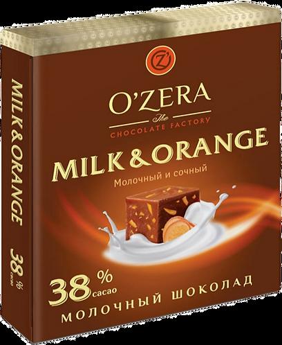 Шоколад O' Zera молочный с апельсином 38% 90гр,