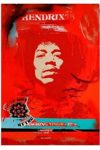 Jimi Hendrix mixed media