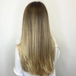 A color melt with balayage was perfect for this gorgeous girl and her need for a low maintenance loo