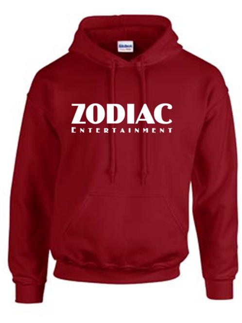 EG342z Hooded Sweatshirt - Garnet w/ Zodiac Logo