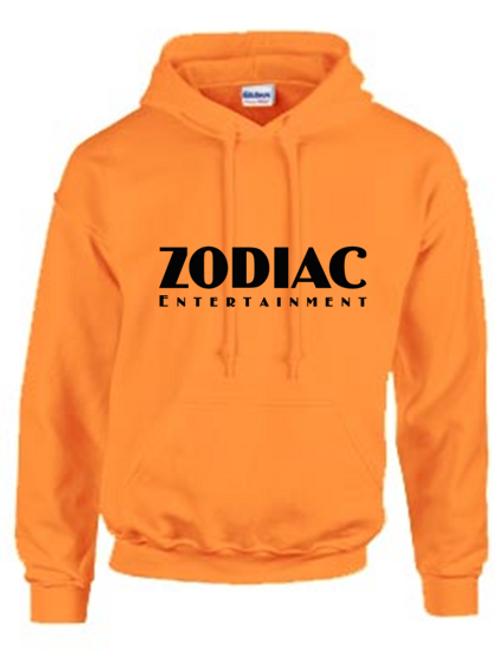 EG342z Hooded Sweatshirt - Safety Orange w/ Zodiac Logo