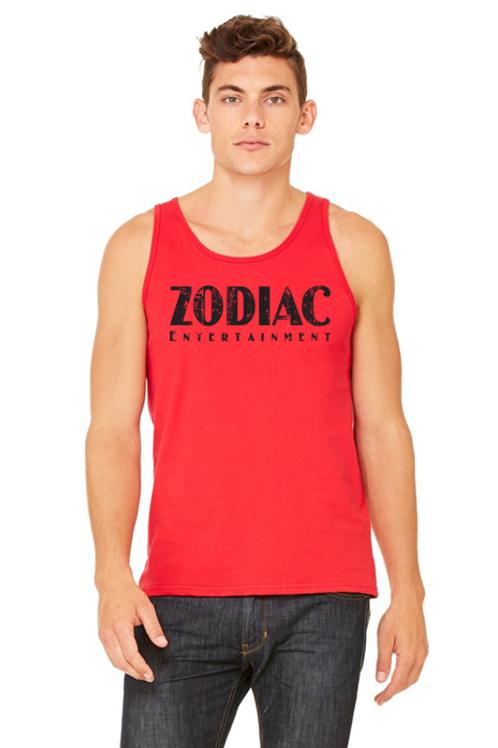EB3480z Men's Jersey Tank - Red w/ Zodiac Logo