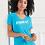 Thumbnail: EA031z - Ladies Lightweight V-Neck Tee w/ white logo