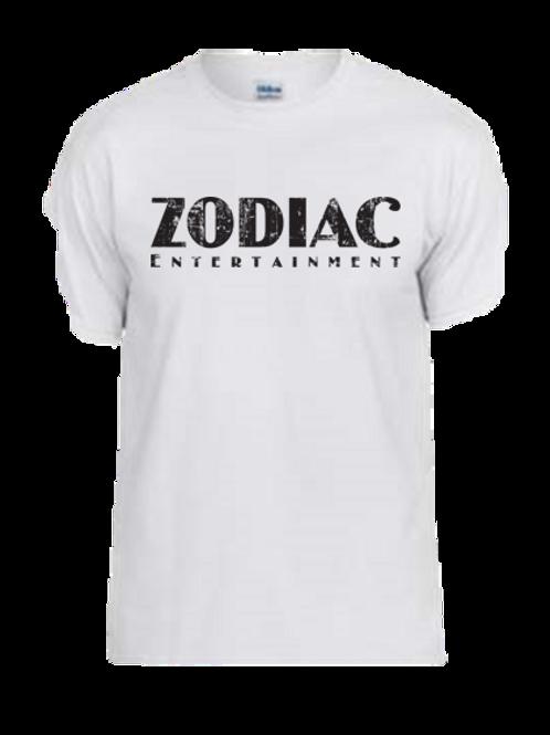 EG110z White - Unisex Tees w/ zodiac logo